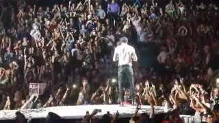 Girl Throw Bra to Stage @ Live at Enrique Iglesias 10-10-2014 @ LA Staples Center