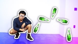 CRAZY GLASS BOTTLE FLIP TRICK SHOTS!