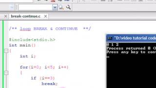 Bangla C programming tutorial  34  Loop BREAK & CONTINUE