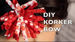 DIY Korker Hair Bow | How To Make A Korker Ribbon Bow