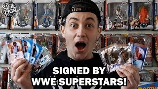 BULK LOT OF SIGNED TOPPS WWE TRADING CARDS UNBOXING!! UNDISPUTED AUTOGRAPHS!