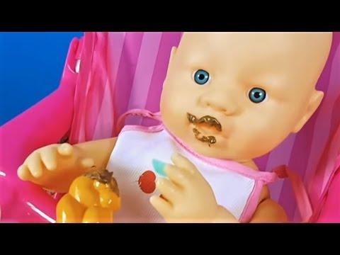 Ela Bebek Nutella ile Her Yerini Kirletti | Bebek Oyunları |  Evcilik TV Oyuncak Bebek Videoları
