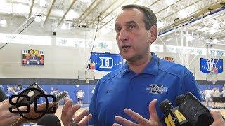Coach K talks starting 4 freshman in Duke exhibition game | SportsCenter | ESPN