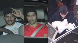 Sidharth Malhotra And Varun Dhawan Meet Karan Johar