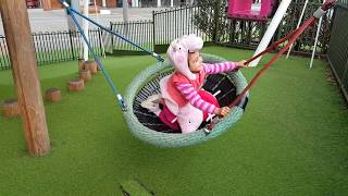 Playing in the Park / Playground for Kids  Pink Car Peppa Pig Slide