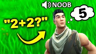 kid helps me CHEAT on math test.. (Fortnite)