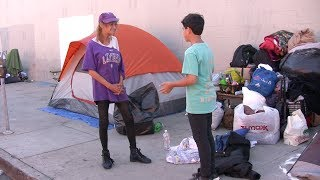 14 YEAR OLD BOY HELPING MORE HOMELESS PEOPLE IN L.A. (video)