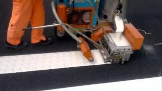 Thermoplastic Convex Road Marking Machine (Marka Jalan Profil)