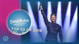 TOP 50: Most watched in 2018: 20 TO 11 - Eurovision Song Contest