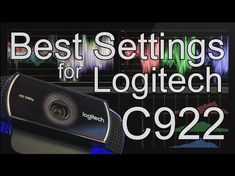 BEST SETTINGS for LOGITECH C922 1080p 30fps 720 60fps