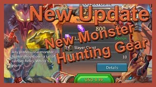 New Monster Hunt Gear - UPDATE - Lords Mobile