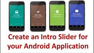 Android App Intro Slider  - 6/6 - Create Next and Skip Buttons and test the final application