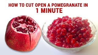 Pomegranate Opening | How to Deseed a Pomegranate | Fastest way to De-seed a Pomegranate | Tips