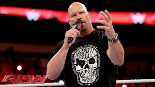 """Stone Cold"" Steve Austin returns to kick off Raw: Raw, October 19, 2015"