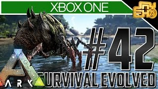Ark Xbox One Gameplay! Ep 42 - BROOD MEETS THE SEA?! (ANOTHER Broodmother Battle!)