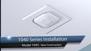 Oberon Model 1043: Recessed Hard Ceiling Wireless Access Point Installation Kit - New Construction