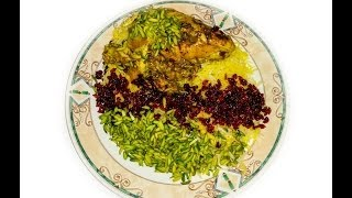 Zereshk Polo ba Morgh (Barberry Rice with chicken)