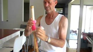 how to put grip on a cricket bat