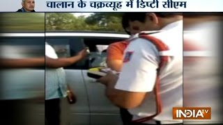 Traffic Policemen Chase Over Speeding Sisodia For An Hour, Fine Him Rs 400 | India Tv