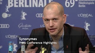 Synonymes | Press Conference Highlights | Berlinale 2019