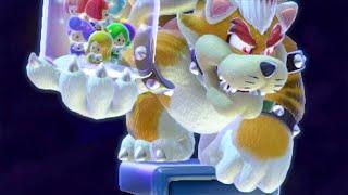 Super Mario 3D World - All Boss Battles (4 Player)