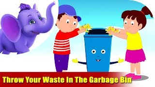 Throw Your Waste In The Garbage Bin - Environmental Song in Ultra HD (4K)