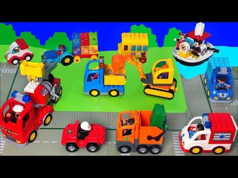Lego DUPLO Traktor Markoló Kukásautó Tűzoltó Vonat Játékautók Mese Gyerekeknek