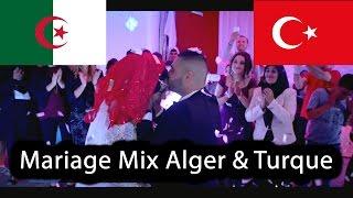 MAGNIFIQUE MARIAGE MIX ALGERIE TURQUIE CORTEGE DE FOU AMBIANCE DE FOU !!!