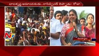 YSRCP MLA Roja Speech in Nandyal By-Election Campaign    NTV