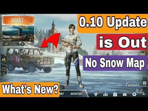 Pubg Mobile 0.10 Update Out | Snow map | What's New