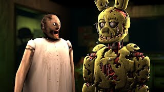 How To Make SLENDRINA GRANNY NOT SCARY #4 FEAT SPRINGTRAP IN FNAF 3