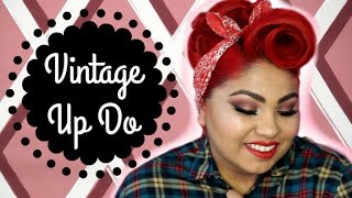 How to: Barrel Roll and Poodle updo hair tutorial