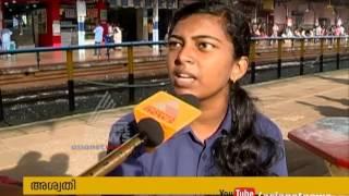 Waste on tracks, Kannur Railway station