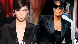 Kendall Jenner Looks EXACTLY Like Mom Kris at 2017 Milan Fashion Week Moschino Show