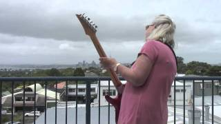 Old Lady Playing Electric Guitar