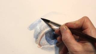 How to draw an eye watercolor - Artacademia