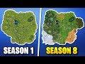 Download Video Download Evolution of the Entire Fortnite Island (Season 1 - 8)! How the Fortnite Battle Royale Map Evolved! 3GP MP4 FLV