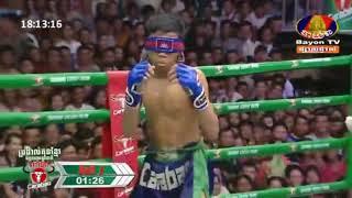 ពន្លក់គុណខ្មែរវាយបិតភ្នែក Thun Visnu vs Dun Raiya Bayon Kun Khmer boxing 02/09/2018
