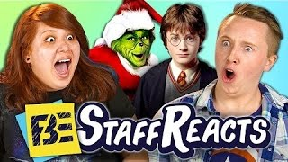 REACT - GUESS THAT MOVIE CHALLENGE #4!!! (ft. FBE STAFF) #react