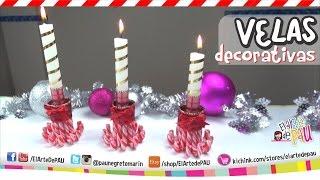 ❥DIY Decorated candles / Velas Decorativas
