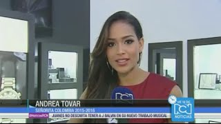 Miss Colombia 2016 Andrea Tovar apoya a Ariadna Gutierrez en Miss Universo