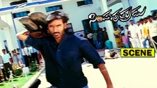 DHANUSH MASS FIGHT SCENE |  SIMHA PUTRUDU | DHANUSH | TAMANNA | V9 VIDEOS