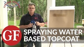How to Spray Water Based Top Coat