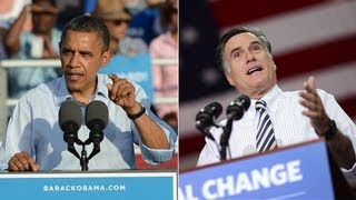 Obama vs Romney on the campaign trail