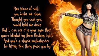 Nicki Minaj - Fire Burns Lyrics Video