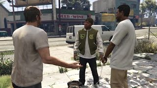 GTA V Conversations - Franklin, Trevor and Lamar Escapes The Ballas(Story Mission)