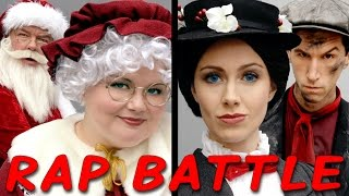 MRS CLAUS vs MARY POPPINS: Princess Rap Battle (Whitney Avalon Alyssa Preston Jim O'Heir) *explicit*