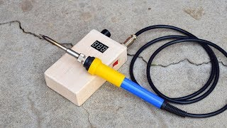 how to make a battery powered soldering iron at home DIY chargeable  HAKKO T12