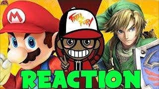 MARIO vs LINK!!!   Cartoon Fight Club Reaction
