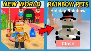 NEW NUTCRACKER WORLD AND RAINBOW HOLIDAY PETS IN ROBLOX BLOB SIMULATOR UPDATE!